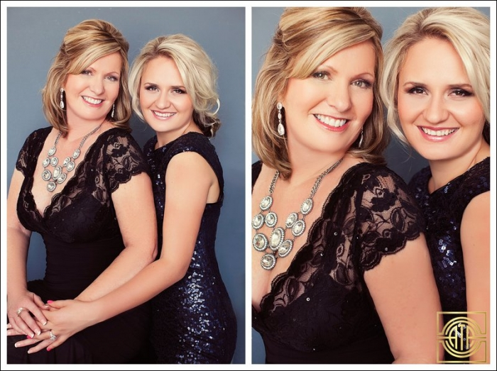 mother daughter glamour photography